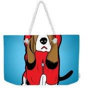 Winter Dog  Weekender Tote Bag