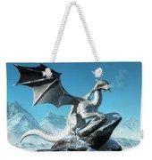 Winter Dragon Weekender Tote Bag