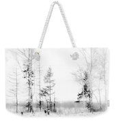 Winter Drawing Weekender Tote Bag by Jenny Rainbow