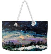 Winter Eclipse Weekender Tote Bag