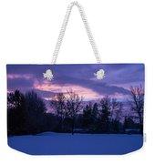 Winter Evening In Grants Pass Weekender Tote Bag