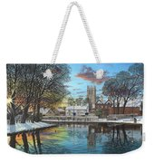 Winter Evening Tickhill Yorkshire Weekender Tote Bag