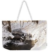 Winter Falls On Big Stone Lake  Weekender Tote Bag