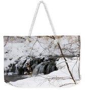 Winter Falls On Big Stone Lake Mn Weekender Tote Bag