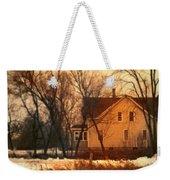 Winter Farhouse Weekender Tote Bag