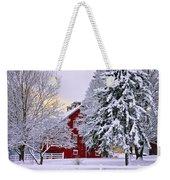 Winter Farm Scene Weekender Tote Bag