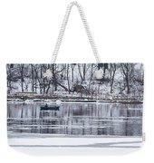 Winter Fishing - Wisconsin River Weekender Tote Bag