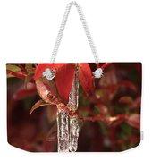 Winter Flower Weekender Tote Bag