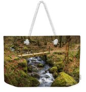 Winter Footbridge Weekender Tote Bag