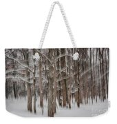 Winter Forest Abstract II Weekender Tote Bag