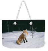 Winter Fox Weekender Tote Bag