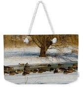 Winter Geese - 01 Weekender Tote Bag