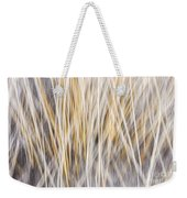 Winter Grass Abstract Weekender Tote Bag