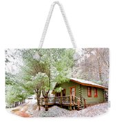 Winter Green Weekender Tote Bag