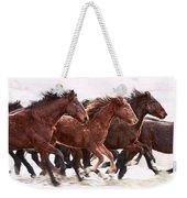 Winter Hardened Wild Horses Weekender Tote Bag
