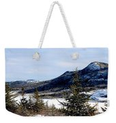 Winter Has Arrived In The Valley Weekender Tote Bag