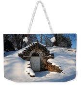 Winter Hobbit Hole Weekender Tote Bag