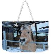 Winter Horse Weekender Tote Bag