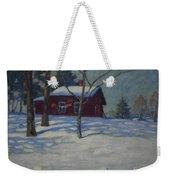 Winter House Weekender Tote Bag