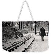 Winter In Central Park Weekender Tote Bag