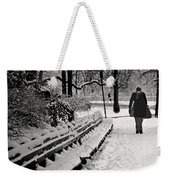 Winter In Central Park Weekender Tote Bag
