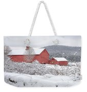 Winter In Connecticut Square Weekender Tote Bag