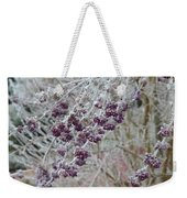 Winter In Lila Weekender Tote Bag