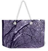 Winter In Purple Weekender Tote Bag