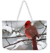 Winter In Red Weekender Tote Bag
