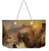 Winter In Switzerland Weekender Tote Bag by Jasper Francis Cropsey
