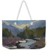 Winter In The Cascade Mountains Weekender Tote Bag