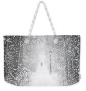 Snowing In The Forrest Weekender Tote Bag