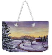 Winter In Vermont Weekender Tote Bag by Anastasiya Malakhova