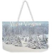Winter In West Virginia Weekender Tote Bag