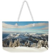 Winter Landscape In British Columbia Weekender Tote Bag