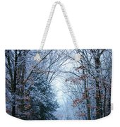 Winter Lane Weekender Tote Bag