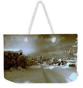 Winter Lane Weekender Tote Bag