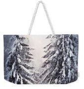 Winter Light And Tiger Weekender Tote Bag