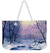 Winter Light Weekender Tote Bag