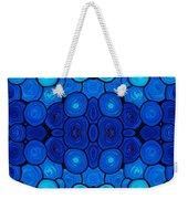 Winter Lights - Blue Mosaic Art By Sharon Cummings Weekender Tote Bag