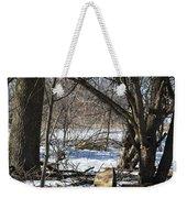Winter Log Weekender Tote Bag