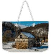 Winter Logcabin Weekender Tote Bag