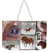 Winter Moments- With The Flashy Paso Fino Stallion Weekender Tote Bag