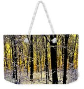 Winter Mood Lighting Weekender Tote Bag