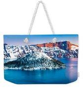 Winter Morning At Crater Lake Weekender Tote Bag