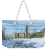 Winter Morning Fountains Abbey Yorkshire Weekender Tote Bag by Richard Harpum