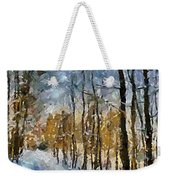 Winter Morning In The Forest Weekender Tote Bag