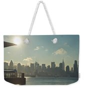 Winter Morning On The Hudson Weekender Tote Bag