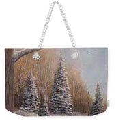 Winter Morning Weekender Tote Bag by Rick Huotari