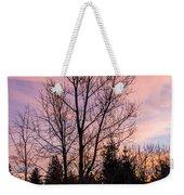 Winter Morning Sky Weekender Tote Bag